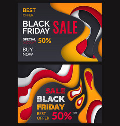 black friday best sale price reduction 50 percent vector image