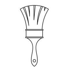 brush icon outline style vector image