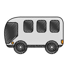 Bus van isolated icon vector