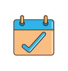 calendar check mark reminder cargo delivery line vector image