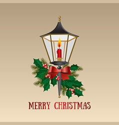 Christmas card Christmas lamp vector