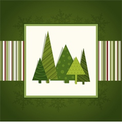 Christmas green card vector image