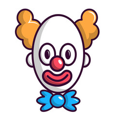 clown with big eye icon cartoon style vector image