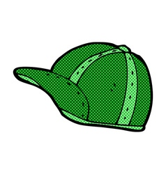 Comic cartoon old school cap vector