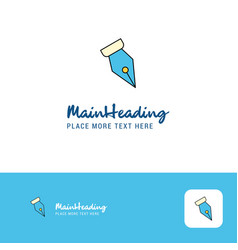 Creative pen nib logo design flat color logo vector