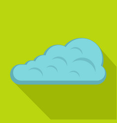 Cumulus cloud icon flat style vector
