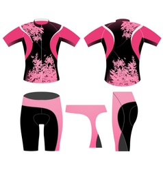 Cycling clothing t shirt vector