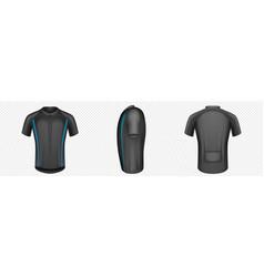 Cycling jersey black bike t-shirt mockup vector