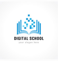 digital school logo vector image