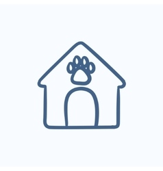 Doghouse sketch icon vector image