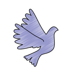 dove flying isolated icon vector image