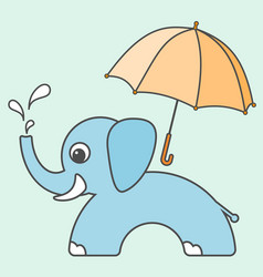 elephant cartoon style art for kids vector image