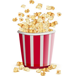 Full paper glass popcorn vector image