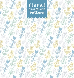 Gentle field flowers pattern vector