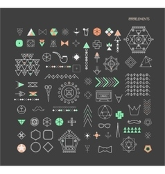 Geometric linear shapes vector
