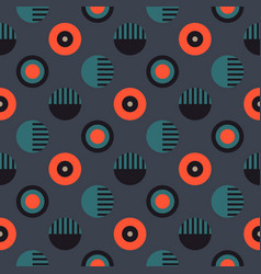 geometric wheels symmetry seamless pattern vector image