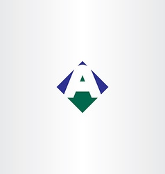 green blue letter a arrow logo icon symbol vector image