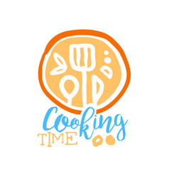 Handmade abstract cooking logo template vector