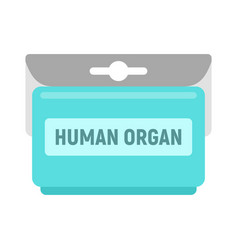 human organ pack icon flat style vector image