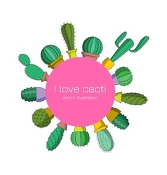 I love cacti vector image