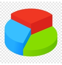 Isometric pie chart icon vector
