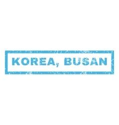 Korea Busan Rubber Stamp vector image
