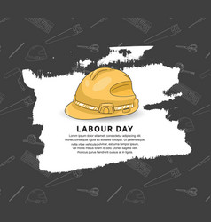 Labor day design 1st may celebration with helmet vector