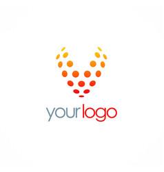Letter v dot logo vector