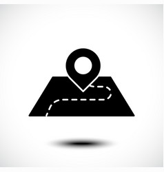 location icon pin on map vector image