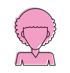 Man with afro hair icon imag vector