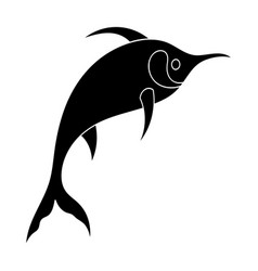 Marlin fish icon in black style isolated on white vector