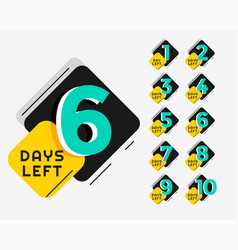 memphis style number days left promotional vector image