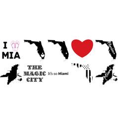 Miami florida us map vector