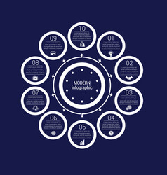 Monochrome circles in a circle pattern vector