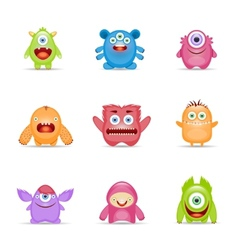 Monster Character Set vector image