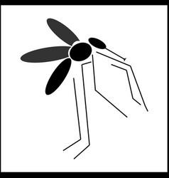 mosquito symbol design vector image