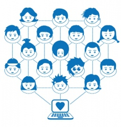 Networking kids vector