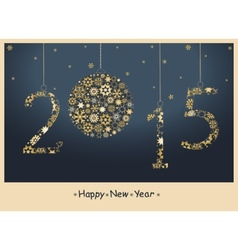 New Year 2015 greeting card vector image