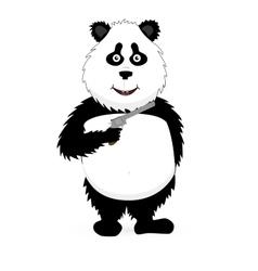 Panda holding a gun vector image
