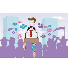 politician giving speech vector image