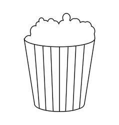 Bucket cardboard cinema popcorn snack striped vector images popcorn in cardboard bucket icon outline style vector maxwellsz