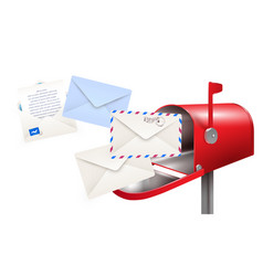 Post mailbox letters composition vector