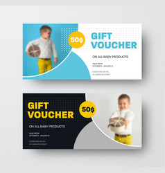 presentation design gift voucher vector image
