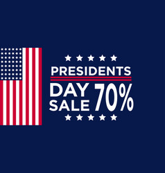 President day 4 july sale banner vector