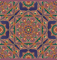 Purple oriental ornament vector
