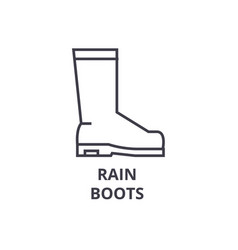 rain boots line icon outline sign linear symbol vector image vector image