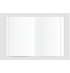 realistic blank handwriting practice copy book vector image