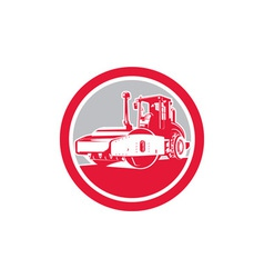 Road Compactor Circle Retro vector