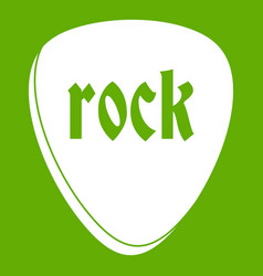 Rock stone icon green vector