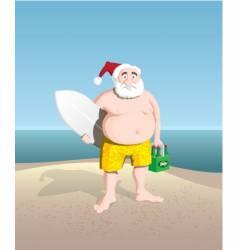 Santa beach vector